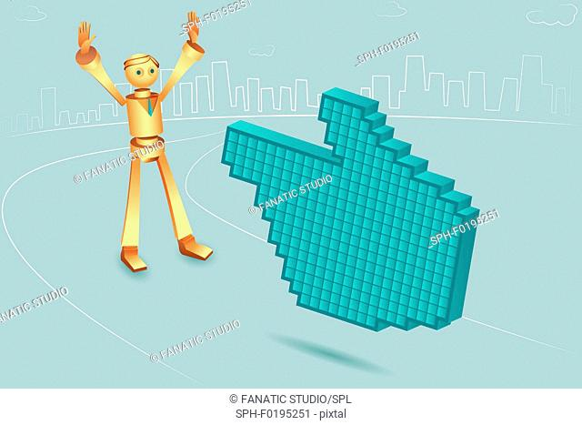 Illustration of hand shaped mouse pointer