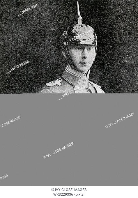 This photo dating to World War I shows the Ex-Crown Prince Wilhelm of Germany. He was the eldest son of the last German Kaiser (Wilhelm II)