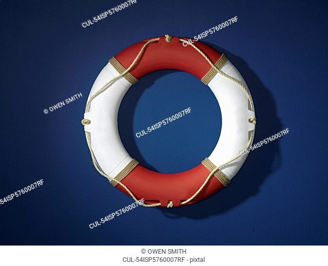 Close up of life preserver