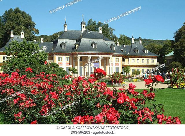 Germany, Saxony, Dresden, Pillnitz, Palace, Pillnitz Castle
