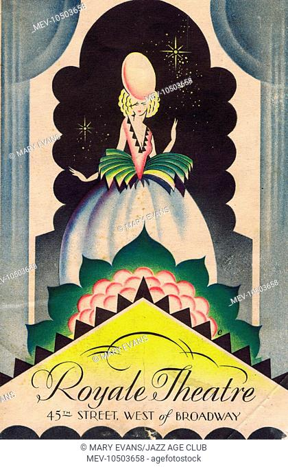 Programme cover for Mae West's Diamond Lil, the Royale Theatre, New York, 1928