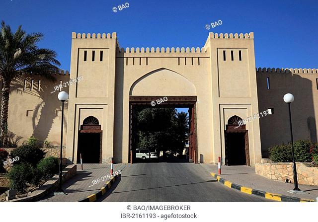 Entrance gate, Fort Nizwa, Oman, Arabian Peninsula, Middle East, Asia