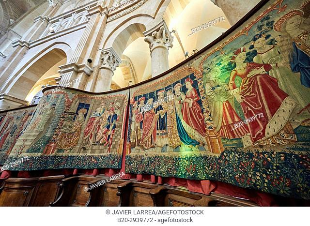 Tapestry of the Life of Virgin, Collégiale Notre-Dame, Beaune, Côte d'Or, Burgundy Region, Bourgogne, France, Europe