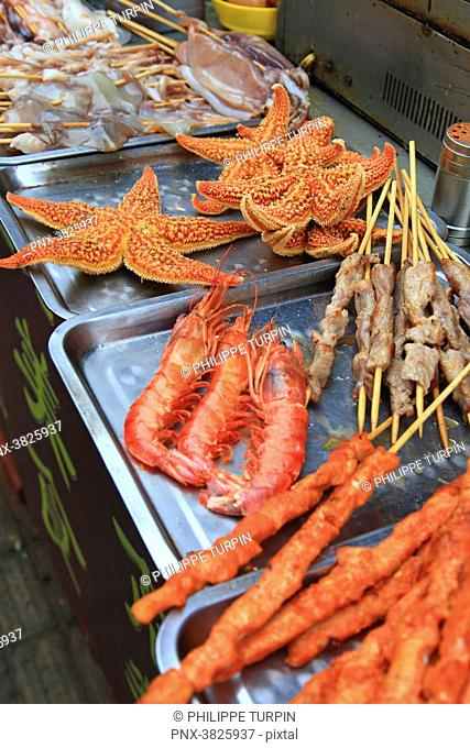 Asia, China, Shandong Province, Qingdao. Food