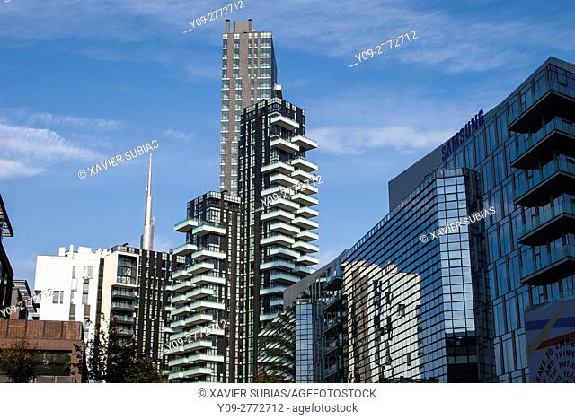 Buildings, Milan, Lombardy, Italy