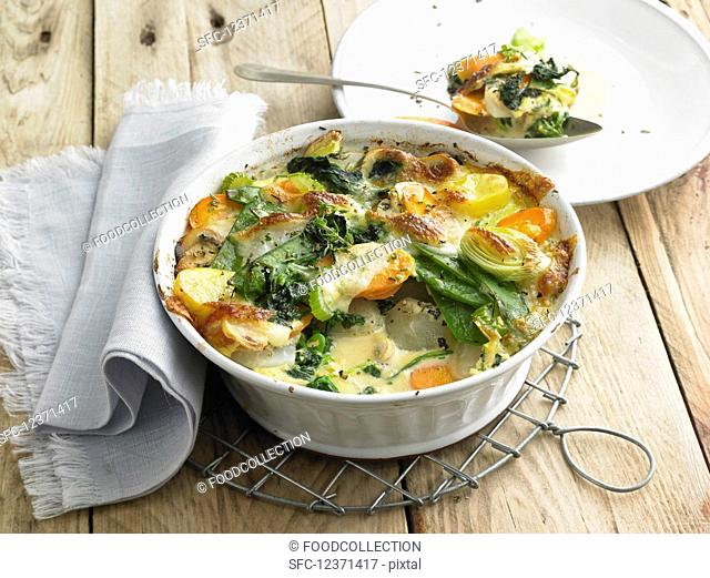 Vegetable bake with mozzarella