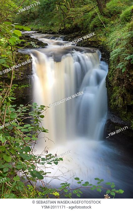Henrhyd Falls, Brecon Beacons National Park, Powys, Wales, UK, Europe