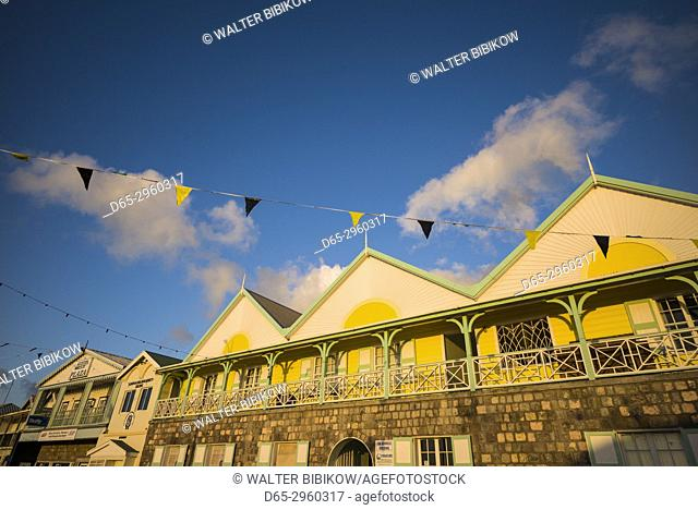 St. Kitts and Nevis, Nevis, Charlestown, waterfront buildings