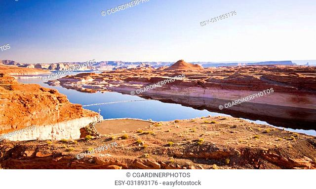 Lake Powell on the Border of Utah and Arizona in the United States