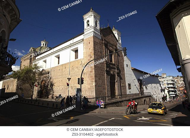 View to the Carmen Bajo Convent-Convento Carmen Bajo at the historic center, Quito, Ecuador, South America