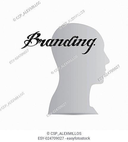 branding mind sign concept illustration