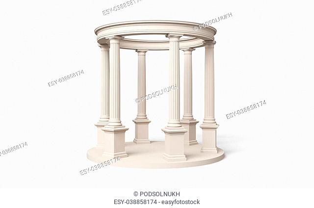 Rotunda classic, Doric order on white background
