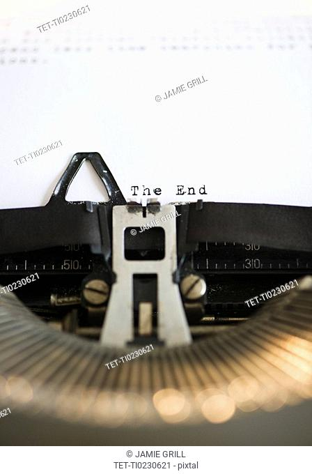 Typewriter and the end of the story