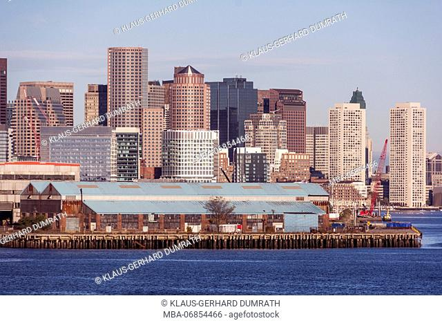 Skyline of Boston in the USA