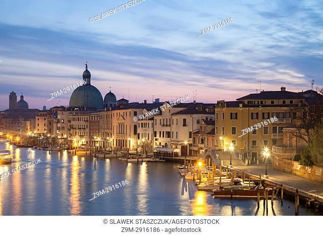 Dawn in Santa Croce district of Venice, Italy