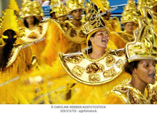 Woman dancing at Carnival, Rio de Janeiro