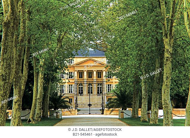 'Chateau Margaux', in the Bordeaux wine area of Médoc. Gironde. Aquitaine. France