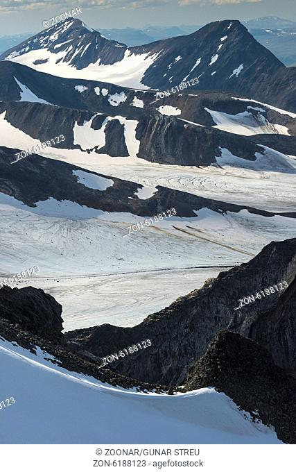 glaciers in Sarek NP, Lapland, Sweden