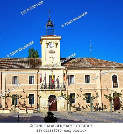 Carrion de los Condes city hall by Way of Saint James at Palencia Spain
