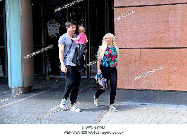 Contestants of RTL TV-Show 'Dance Dance Dance' leaving the Savoy Hotel to attend the final. Featuring: Lucas Cordalis, Daniela Katzenberger Where: Cologne