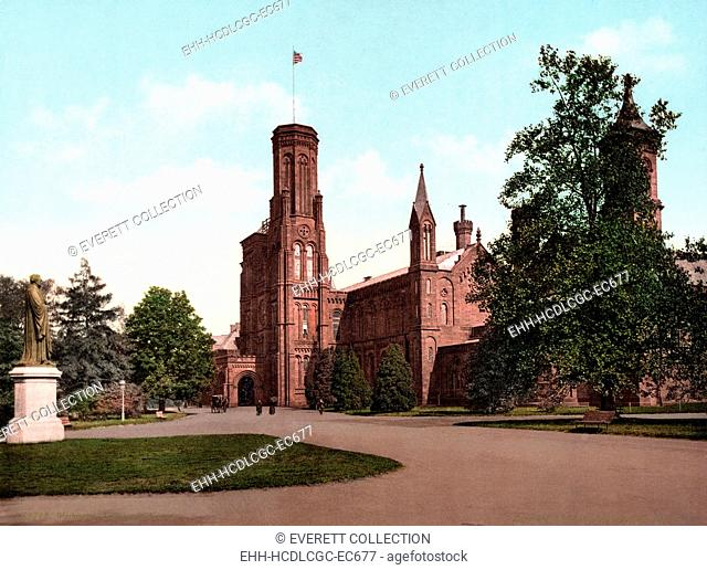 The Smithsonian Institution Castle. Washington, DC. photochrom ca. 1898