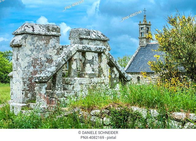 France, Brittany, Locronan (part of the French assocation Plus Beaux Villages de France, meaning .the most beautiful villages of France