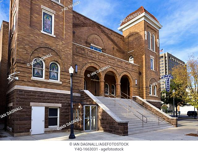 The 16th Street Baptist Church, centre of the civil rights movement in Birmingham, Alabama, USA