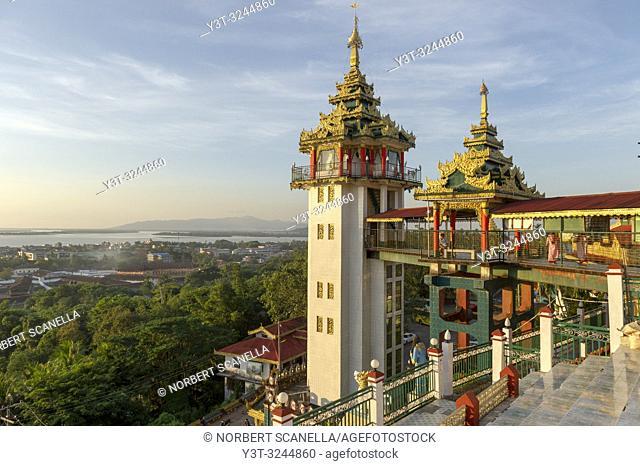 Myanmar (formerly Burma). Mon State. Mawlamyine (Moulmein). Pagode Paya Kyaik than lan (Kyaikthanlan)