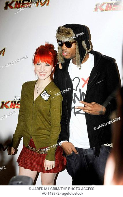 (L-R) Hayley Williams & B.O.B. arrive at 102.7 KIIS FM's Jingle Ball 2010 at Nokia Theater L.A. Live on December 5, 2010 in Los Angeles, California