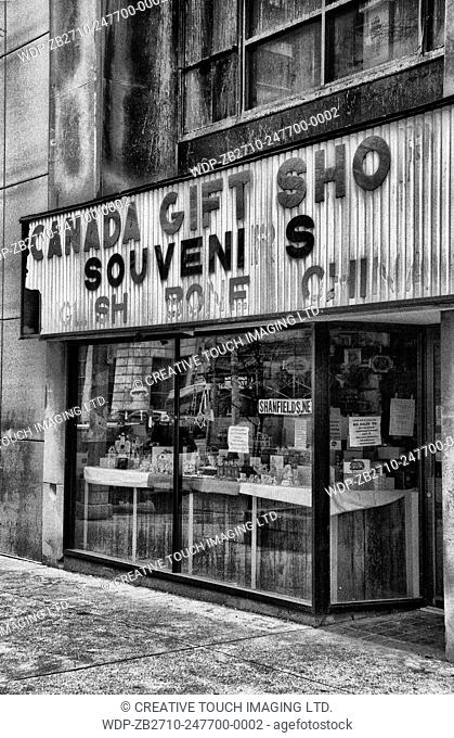 Canada souvenir and gift shop in downtown Windsor, Ontario, Canada