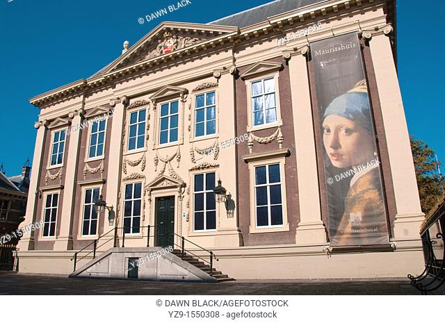 Mauritshuis Facade, Den Haag, The Netherlands  The 17th century Dutch classicist building was named after the Dutch man who had it built