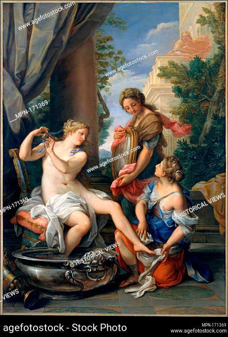Bathsheba at Her Bath. Artist: Giuseppe Bartolomeo Chiari (Italian, Lucca or Rome 1654-1727 Rome); Date: ca. 1700; Medium: Oil on canvas; Dimensions: 53 1/2 x...
