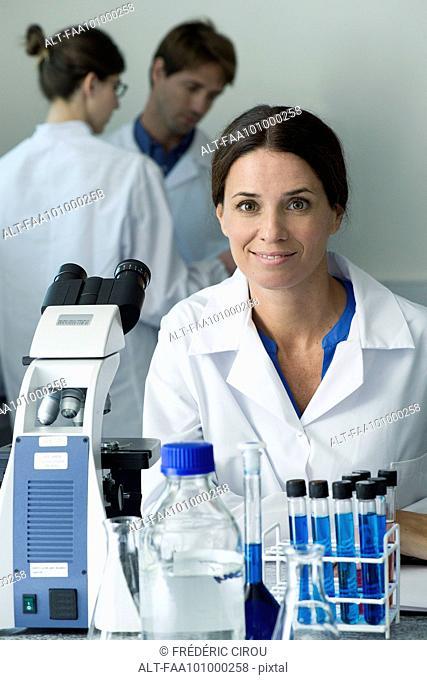 Scientist in laboratory, portrait