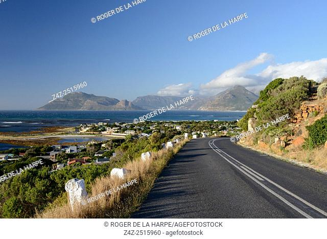 View towards Hout Bay from Kommetjie. Cape Town. Western Cape. South Africa