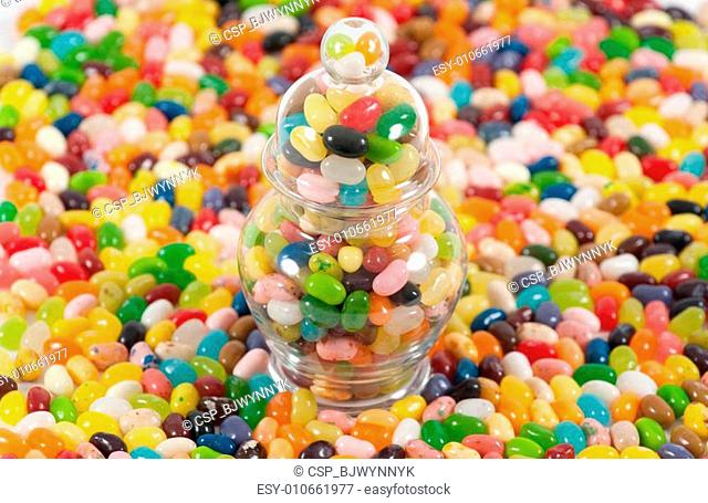 Jellybeans and jar