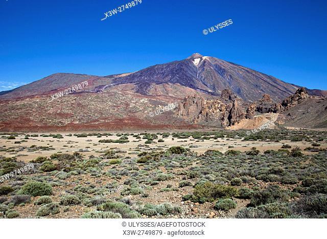 Teide volcano, view from Llano de Ucanca, Tenerife island, Canary archipelago, Spain, Europe