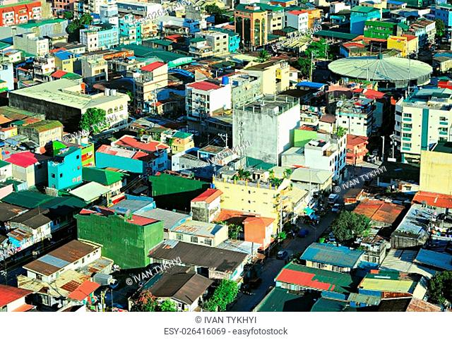 Slums of Makati city - is one of the 17 cities that make up Metro Manila. Philippines