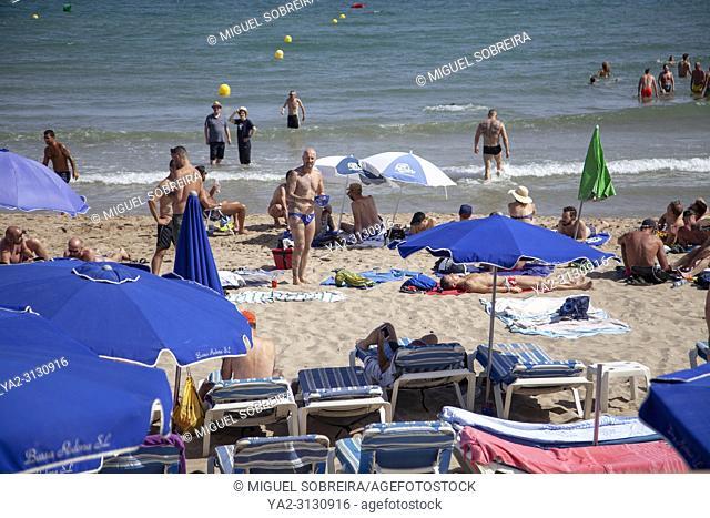 Bassa Rodona Beach in Sitges, Spain