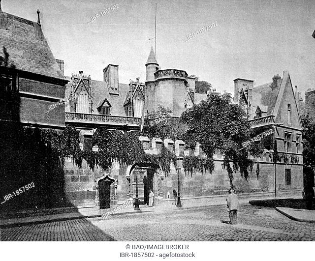 One of the first autotype prints, Le Musee de Cluny, historic photograph, 1884, Paris, France, Europe