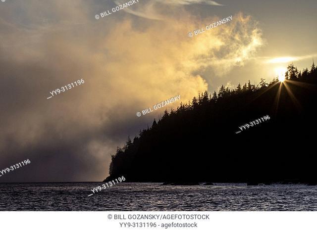 Sunset at Mystic Beach - Juan De Fuca Marine Trail - Sooke, near Victoria, Vancouver Island, British Columbia, Canada