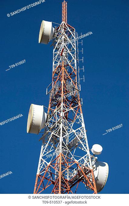 Antenna. Caudete, Albacete province, Castilla-La Mancha, Spain