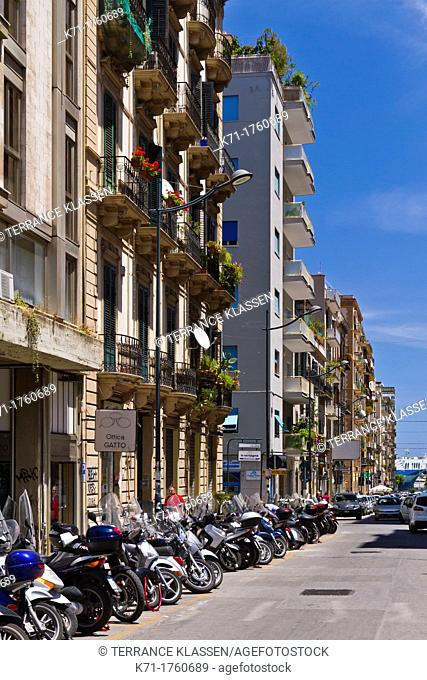 Historic building architecture in Palermo, Sicily, Italy