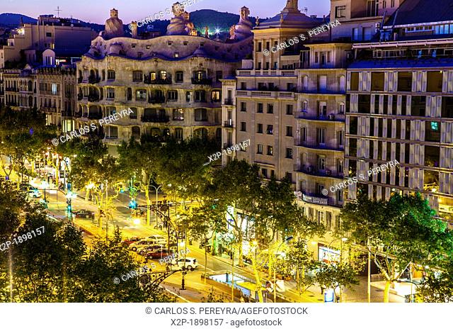 Mila House aka 'La Pedrera', 1906-1912 by Antoni Gaudí  Barcelona  Paseo de Gracia Avenue