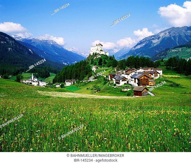 Castle Tarasp near Schuls Engadin Switzerland