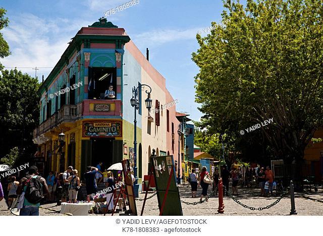 Colorful houses on Caminito area in La boca  Buenos Aires, Argentina
