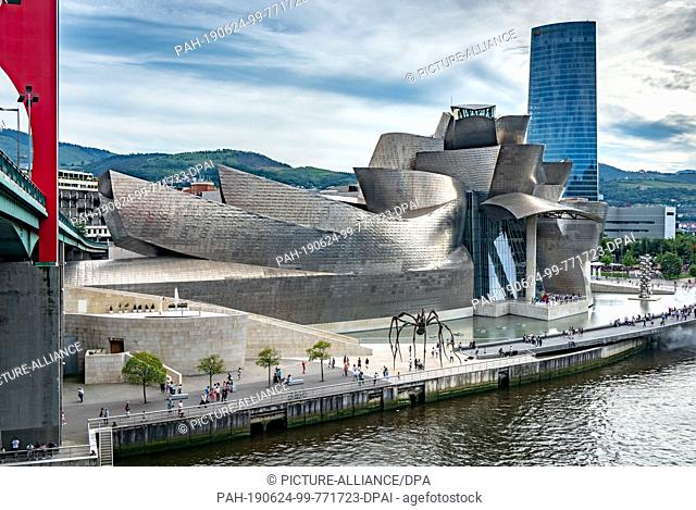 23 June 2019, Spain, Bilbao: The Guggenheim Museum in Bilbao. The building is one of the most famous works by the architect Frank Gehry