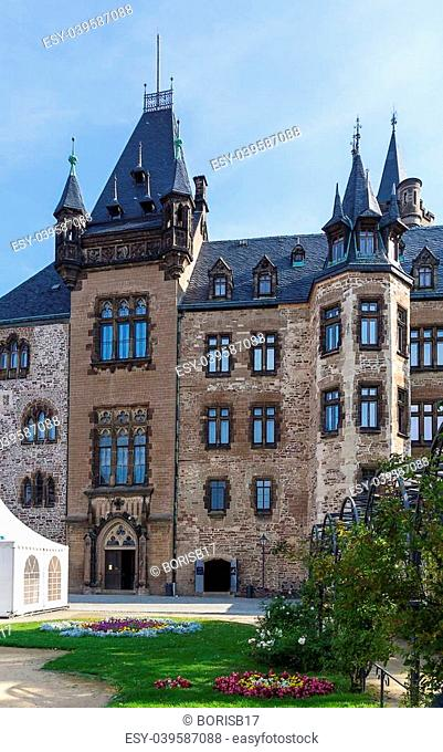 Wernigerode Castle is a castle located in the Harz mountains above the town of Wernigerode