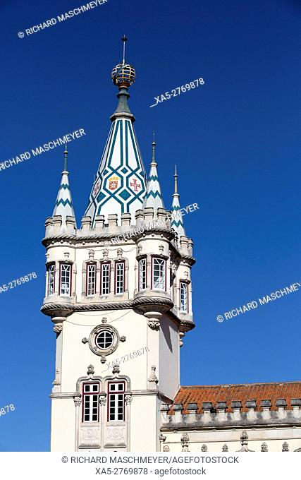 Town Hall Tower, Sintra, UNESCO World Heritage Site, Portugal