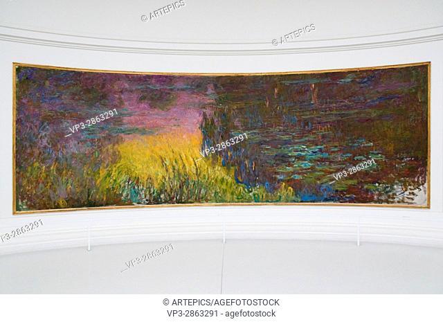 Claude Monet. Les Nymphéas. XIX - XX th Century. Paris Orangerie Museum