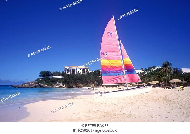 Colourful beach scene at Meads Bay on the island of Anguilla